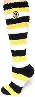 NHL Boston Bruins Fuzzy Knee High Sleep Socks Medium