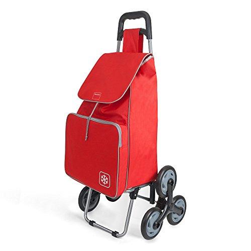 Metaltex Peony Chariot de Courses avec 6Roues, Metal, 120x 60x 6cm 120x60x6 cm Rouge