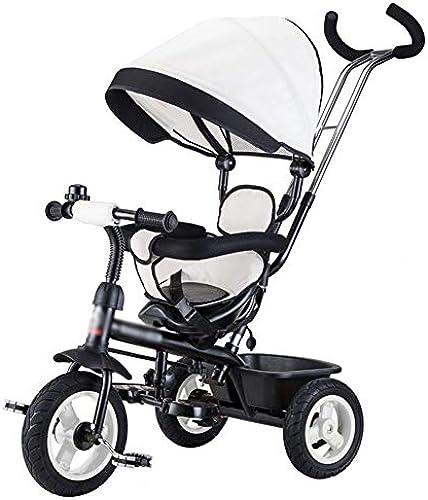 MINISU S ling Kinder Dreirad fürrad 1-3 Jahre alt 2-6 Kinderwagen 3 R r fürrad Kinder WeißReise