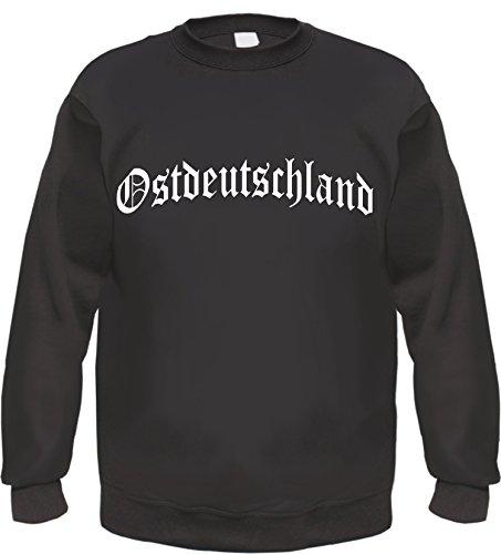 HB_Druck OSTDEUTSCHLAND Sweatshirt Pullover L Schwarz