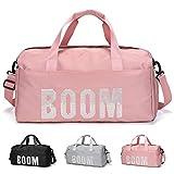 FEDUAN original Boom Sporttasche mit Schuhfach und Nassfach Reisetasche modisch wasserdicht Damen Herren Yoga Strand Freizeit Sauna-Tasche Gym-Tasche Shopping-Bag Weekender Urlaub pink alt-rosa