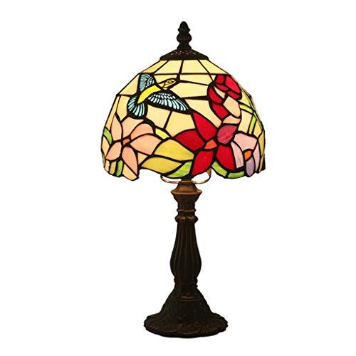 NBVCX Lámpara de Escritorio de decoración de Muebles, lámpara de Mesa de Noche Tiffany, lámpara de Pantalla de Cristal Hecha a Mano de Estilo Antiguo, Cama, Sala de Estar