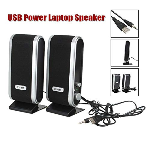Best Prices! RONSHIN for 2 Pcs USB Power Computer Speakers Stereo 3.5mm with Ear Jack for Desktop PC...