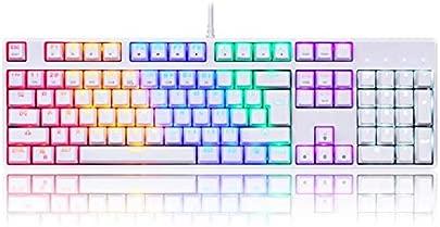 Dmmw Beleuchtete Spieletastatur verdrahtete Laptop-USB-mechanische Gef hltastatur professionelle Spieltastatur