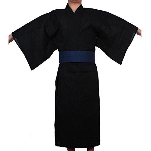 Fancy Pumpkin Kimono japonés Yukata de los hombres Jinbei Vestido de pijamas robe casero # 04 [Talla L]