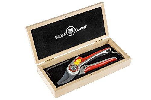 WOLF-Garten - Zweischneidige Gartenschere RR 5000 in attraktiver Holz-Box