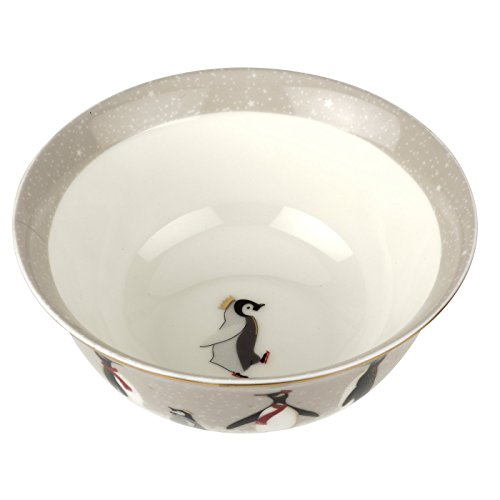Sara Miller London Bowl Pinguin Christmas Collection Schaal, meerkleurig