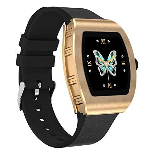 Reloj Inteligente, Smartwatch Impermeable IP68 Para Mujer Hombre Niño, Pulsera Actividad Inteligente Para Deporte Con Monitor De Sueño, Presión Arterial, Pulsómetro, Calorías Para Android Ios,Oro
