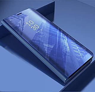 جراب هاتف واقي من نوعه - جراب هاتف واقٍ بمرآة ذكية قابلة للطي لهاتف iphone 5 5S SE 6 6S 7 8 Plus X XS 11 Pro MAX XR (أرجوا...