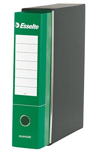 ESSELTE G75 ESSENTIALS Registratore - f.to protocollo dorso 8 cm - Verde - Confezione da 6 pezzi - 390775180