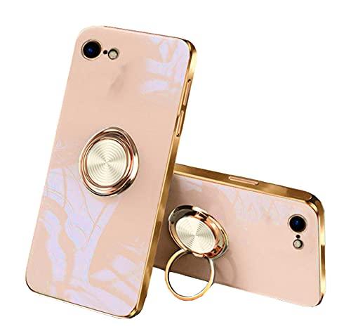 Compatible con Funda iPhone 7 Apple Funda iPhone 8 Silicona, Fundas iPhone 7 Funda iPhone 8 Case para Magnético Car Soporteda Carcasa iPhone 8 Rosa (Albaricoque, iPhone 7/iPhone 8)