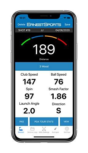 Ernest Sports ES B1 - Golf Launch-Monitor - Radar - Kostenlose App - 3