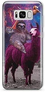 Funny Star Wars Samsung Galaxy S9 Case Animal Jedi Rainbow Cat Llama Squad Sith Lightsaber Fight Clear Durable Plastic Case for Samsung Galaxy S9 Sloth Sloth Vader MA1304