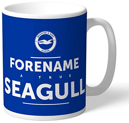 Brighton & Hove Albion Personalised FC True Seagull Mug