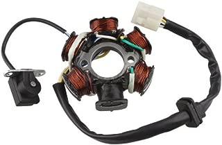 shuihou Magneto Stator 6-coil 5-wire for 50cc 70cc 90cc 110cc 125cc ATV Quad Go Kart(male plug)