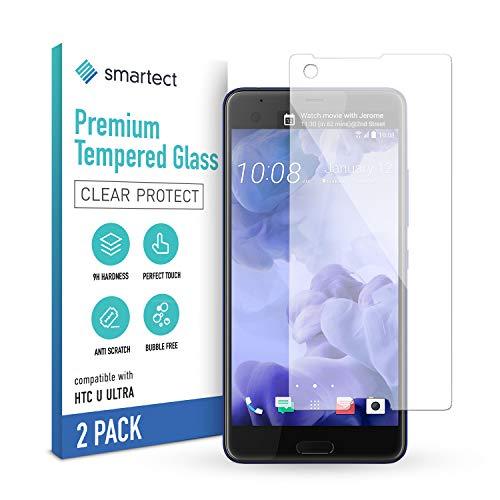 smartect Cristal Templado para Móvil HTC U Ultra [2 Unidades] - Protector de...