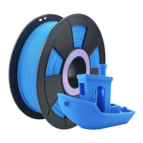 ZIRO PLA Filament 1.75mm,3D Printer Filament PLA Fluorescence Series 1.75 1KG(2.2lbs),Dimensional Accuracy +/- 0.03mm,Fluo Blue