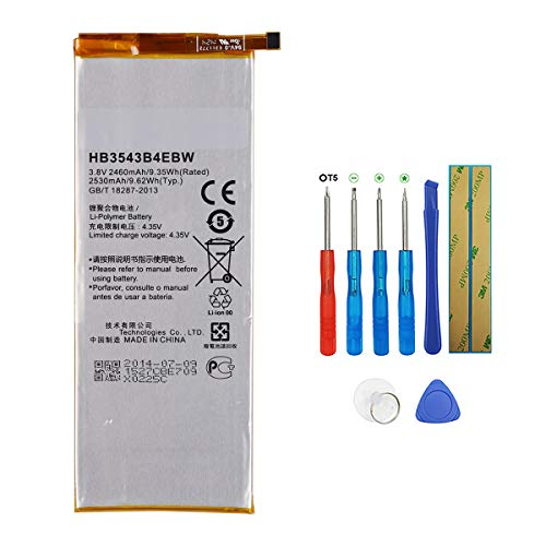 Swark Batería de repuesto HB3543B4EBW compatible con Huawei Ascend P7 L09 L00 L10 L05 L11 con herramientas