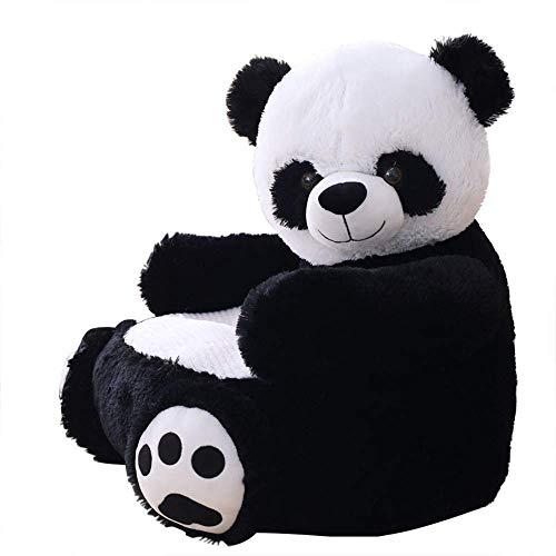 MJTP Bébé Canapé Ours Support Siège Apprentissage Assis pour Doux Coussin De Chaise Bébé Nourrir Oreillers Coffre-Fort Animal en Peluche Cadeau (Panda)