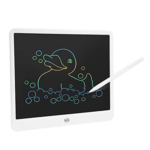Ahageek Tableta de Escritura LCD, 15 Pulgadas, Colorida, borrable, electrónica, Escritura a Mano, Tablero Digital, tabletas, para niños, niños, Escritura, Dibujo