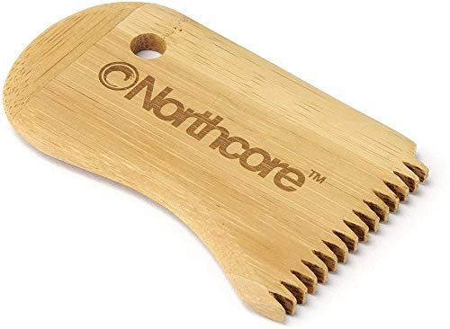 Northcore Bamboo Surf Wax Comb Lija para Tabla, Adultos Unisex, Marrón (Marrón), Talla Única