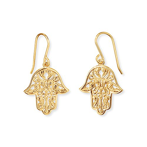 Engelsrufer Damen Ohrhänger Hand Fatimas 925er-Sterlingsilber vergoldet Größe 20 mm