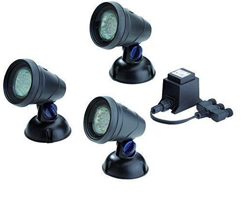 OASE 50530 LunAqua Classic LED Set 3 - LED-Scheinwerfer für Gartenbeleuchtung und Unterwasserbeleuchtung zum Einsatz in Teich, Gartenteich, Schwimmteich, Fischteich, Pool, Brunnen und Außenbereich