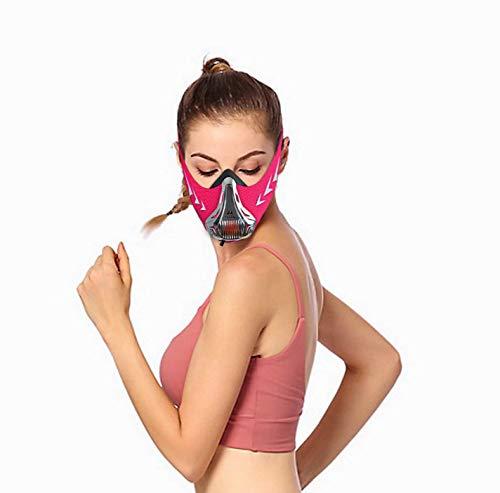 FDBRO Máscaras máscaras de Deportes, Estilo Negro, máscara;scara para Entrenamiento y acondicionamiento de Gran altitud, máscara scara Deportiva 2.0 (L, Plata y Rosa)