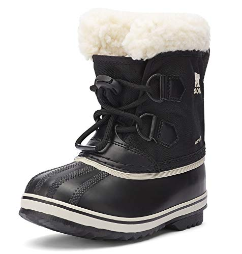 Sorel - Youth Yoot Pac Nylon Winter Snow Boot for Kids, Black, 1 M US