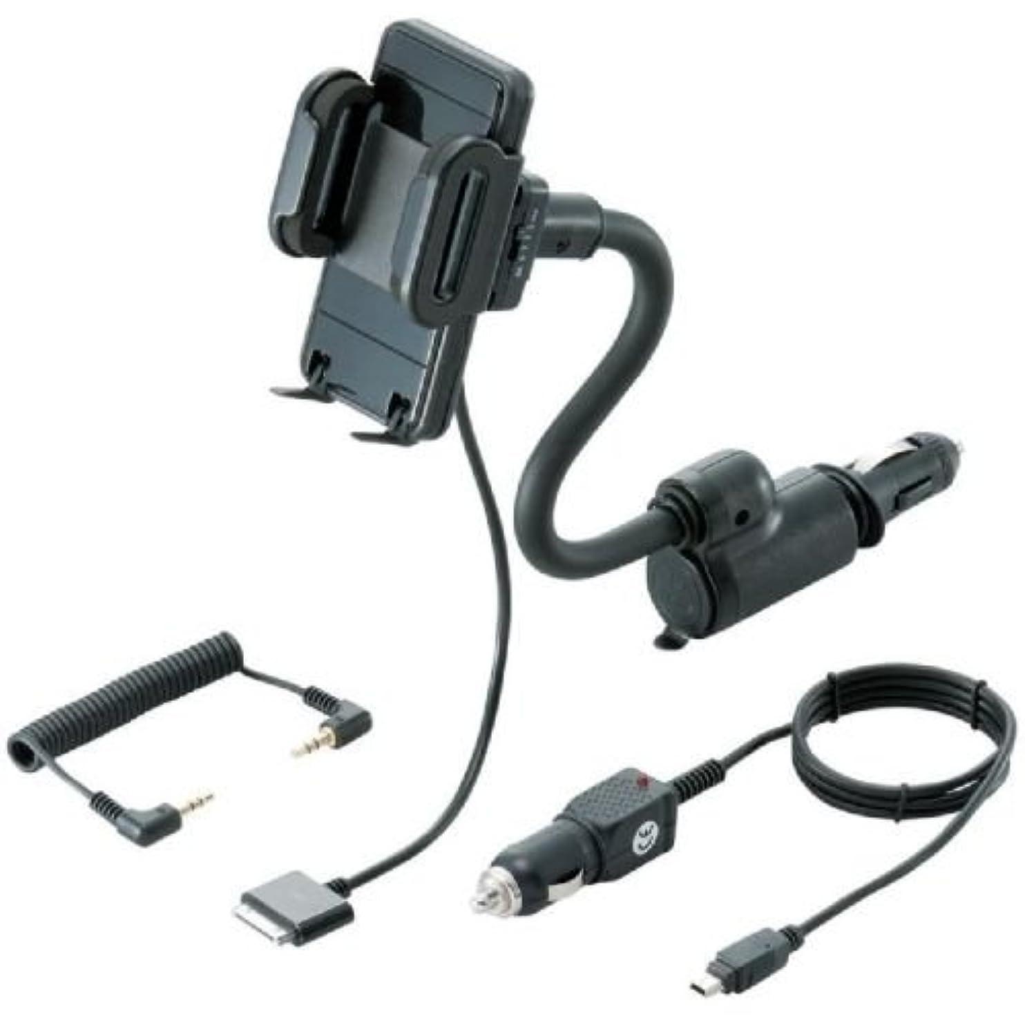 液化する乱暴なスカーフLogitec FMトランスミッター iPhone/iPod touch用 ホルダータイプ シガーチャージャー取り付け式 Made for iPhone LAT-MPIH03C LAT-MPIH03C