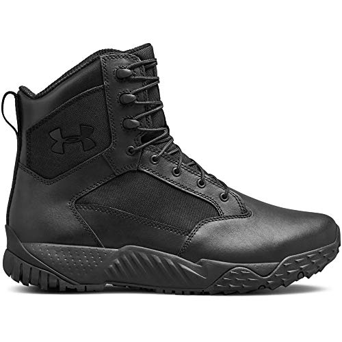 Under Armour Men's Stellar Tac Waterproof Military and Tactical Boot, Black (001)/Black, 10