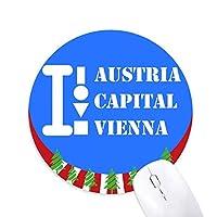 オーストリー首都ウィーン 円形滑りゴムのマウスパッドクリスマス飾り