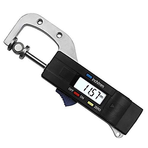 LKAIBIN Digital Espesor horizontal Calibre 0,01 mm de joyería de perlas Regla Redondo Diámetro del metal de medición Medidor de espesor micrométrico Diamete