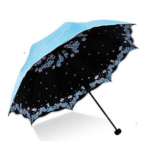 GJYWHF Parasol Parapluie Pliant Mâle Femelle Anti-UV Résistant Aux Intempéries Fleur Fille Soleil Fille Parapluie Parapluie