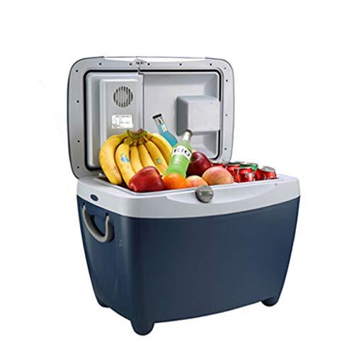 Autokühlschrank, Wärmer & Kühler 2 Modi, Autokühlbox Wärmerbox 12V DC, Tragbare Gefriertruhe für unterwegs, Camping-45L (Tiefe Blau)