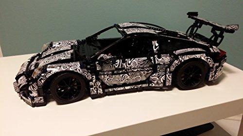 Erlkönig Foliendesign für Porsche 911 GT3 RS Lego 42056