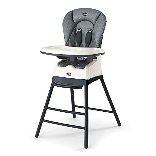 Chicco 05079552050070 Stack 3 in 1 Easily Transformable & Portable Highchair, Booster, & Stool for Babies and Toddlers, Nordic