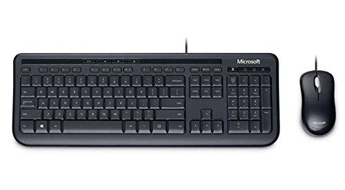 Microsoft Wired Desktop 600 Tastatur und Maus set (Verpackung für Unternehmen) schwarz