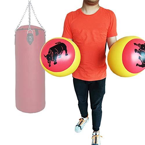 iBoosila Aufblasbare Boxhandschuhe, Boxsäulen-Sandsack-Passhandschuhe, Boxtrainingshandschuhe Für Erwachsene, Geeignet Für Körperliche Übungen, Kindergeburtstag