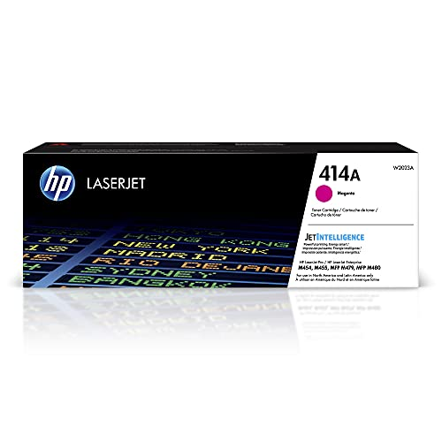 HP 414A   W2023A   Toner-Cartridge   Magenta   Works with HP Color LaserJet Pro M454 series, M479 series