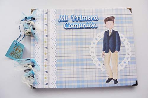 Libro de firmas primera comunión niño, recuerdos, fotos. Scrapbooking, scrap, scrapbook, comunión, fotos, álbum de firmas -Hecho a mano, niño #9