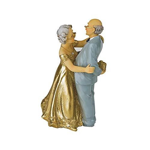 Artif Couple Marié Depuis 50 Ans, Anniversaire de Mariage des Noces d'or, 12.4x8x6cm