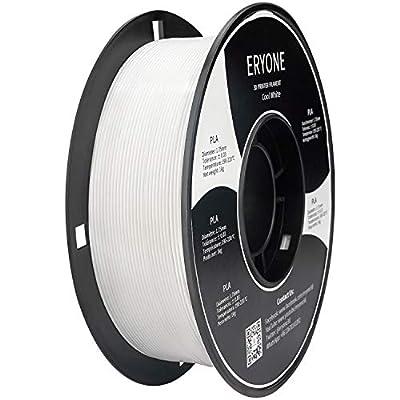 ERYONE PLA Filament for 3D Printer, Filament PLA 1.75mm, No-Tangling,Dimensional Accuracy +/-0.03mm, 1kg(2.2lbs)/Spool, Cool White