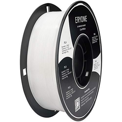 ERYONE PLA Filament 1,75 mm, 3D-Drucker Filament PLA , +/- 0,03 mm, 1 kg / Spule,Blanco Frio
