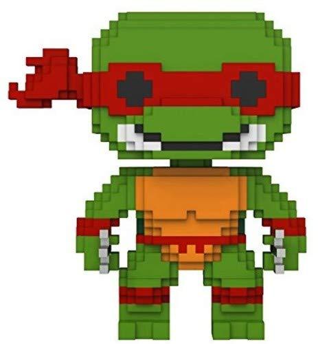 Funko 22984 8-Bit Raphael TMNT S1 Spielfigur, Mehrfarbig