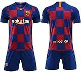 A&H Fashion Kids Limited Barcelona Soccer Uniform Children Football T-Shirt Shorts Kits