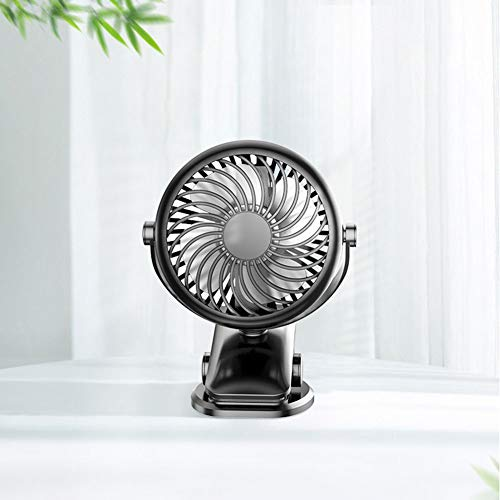 Clip on Fan, 360° Rotation, USB Powered Clip on Desk Fan Mini Portable Table Fan Personal Fan for Baby Stroller Office Outdoor Travelblack