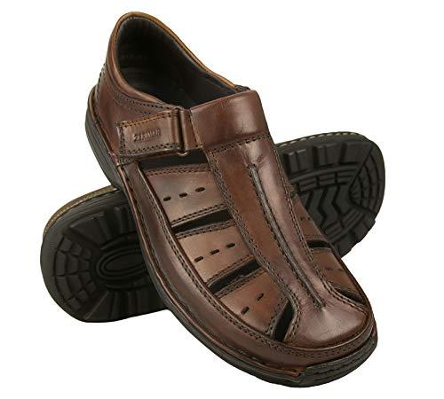 Zerimar leren sandalen | Sandalen Man | Trekkingsandalen heren | Sandalen voor heren Hiking | Leren sandalen | Zomersandalen heren