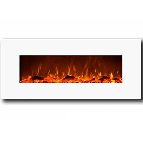 Regal Flame MFE5050WH Houston 50' Electric Wall Mounted Fireplace - White