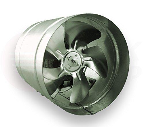 Axialer Rohrventilator Ø 250 mm 1000m³/h Rohrlüfter Lüfter Hochdruck Ventilator Abluft Gebläse Metall Radialventilator